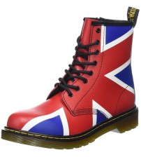 Dr Martens Delaney Union Jack 8 eye Womens Leather Boots