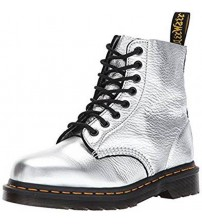 Dr Martens Pascal Silver 8 eye Leather Womens Boots