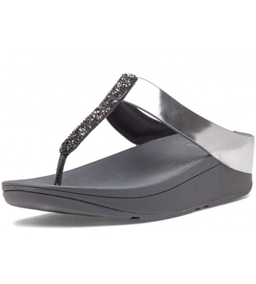 270c05acd Fitflop Fino Pewter Womens Leather Sandals Flip Flops
