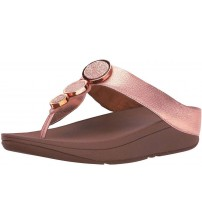 Fitflop Halo Rose Gold Womens Leather Sandals Flip Flops