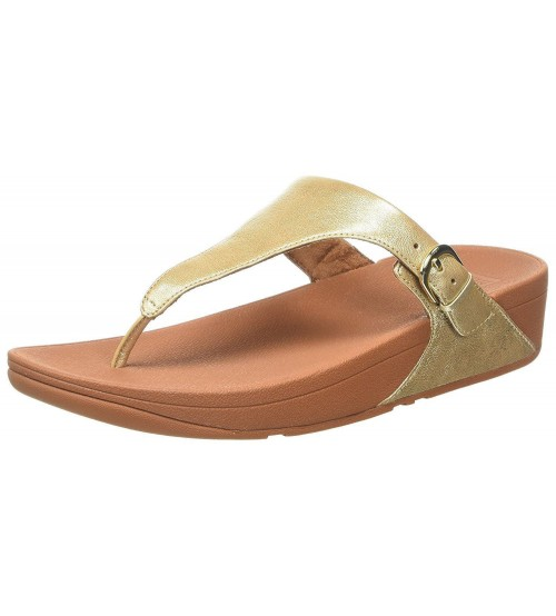 Fitflop Skinny Pale Gold Womens Leather Sandals Flip Flops