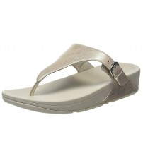 Fitflop Skinny Silver Womens Leather Sandals Flip Flops