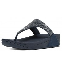 Fitflop Slinky Rokkit Navy Silver Womens Leather Sandals