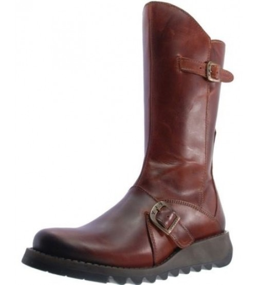 Fly london Mes 2 Brick Leather Womens Mid Calf Boots