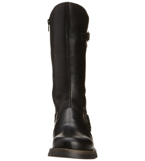 26cf2d9f3ae Fly london Mes 2 Black Leather Womens Mid Calf Boots
