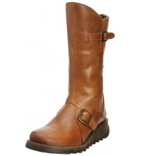 Fly London Mes 2 Camel Leather Womens Mid Calf Boots