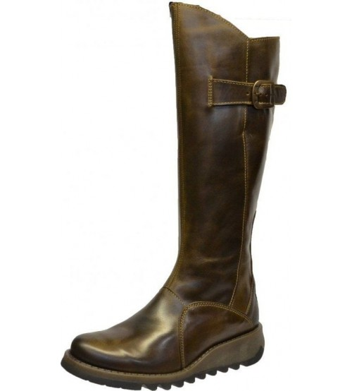 Fly london Mol 2 Olive Leather Womens Knee Hi Boots