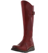 Fly london Mol 2 Red Leather Womens Knee Hi Boots