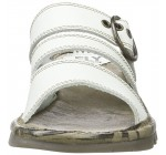 Fly London Thea724Fly Off White Womens Leather Wedge Sandals