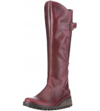 Fly London Mol 2 Purple Leather Womens Knee Hi Boots