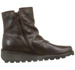 Fly london Mong944fly Dark Brown Leather Womens Ankle Boots