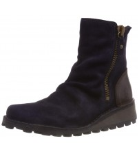 Fly london Mong944fly Navy Brown Suede Womens Ankle Boots