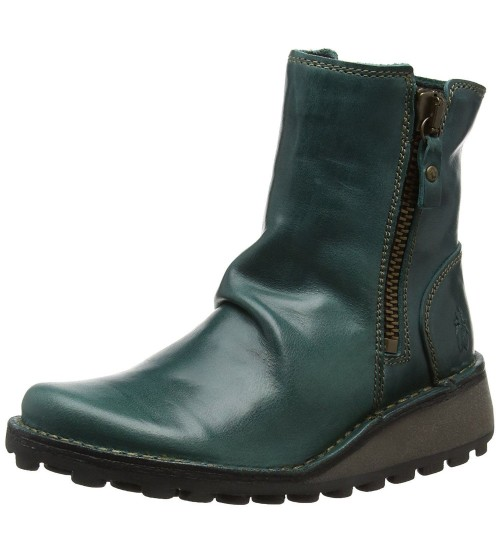 Fly london Mong944fly Petrol Leather Womens Ankle Boots