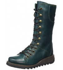 Fly london Ster768Fly Petrol Leather Womens Mid Calf Boots