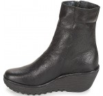 Fly london Yemi902fly Black Graphite Leather Womens Mid Calf Boots