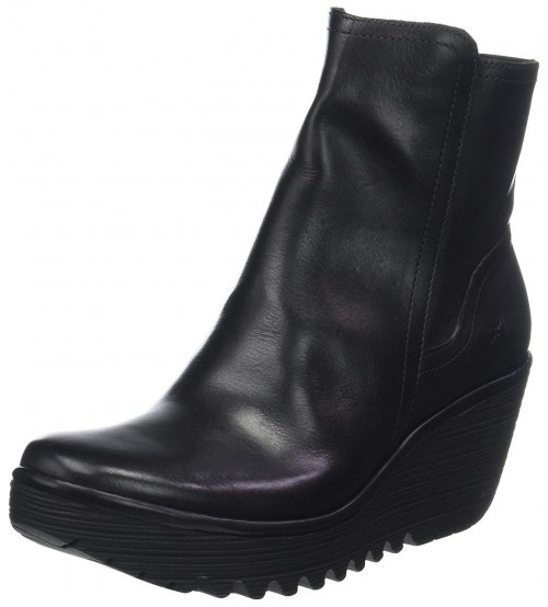Fly london Yeti907fly Black Leather Womens Ankle Boots