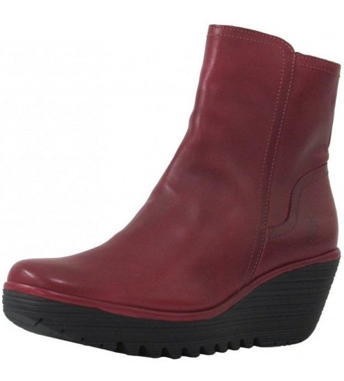 Fly london Yeti907fly Red Leather Womens Ankle Boots