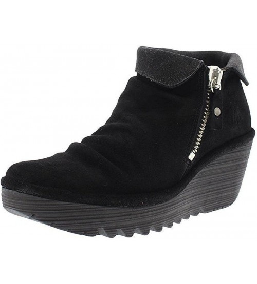 Fly london Yoxi755fly Black Diesel Womens Suede Boots