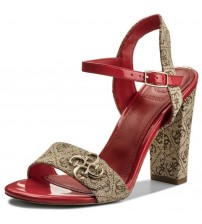 Guess Amiyah 2 Beibr Red Womens Hi Heels Sandals