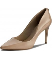 Guess Bennie5 Nude Womens Patent Leather Heels Court Shoes