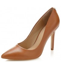 Guess Blix Tan Womens Leather Hi Heels Court Shoes