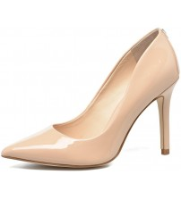 Guess Blix8 Nude Womens Patent Leather Hi Heels Court Shoes