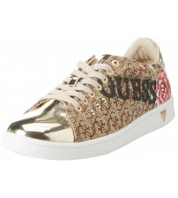 Guess Super Gold Black Womens Trainers Shoes