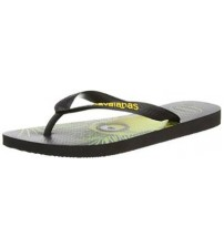 Havaianas Minions Black Yellow Womens Summer Beach Flip Flops