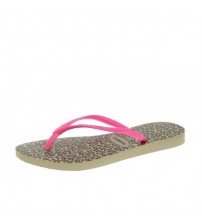 Havaianas Slim Animals Sand Pink Womens Summer Beach Flip Flops