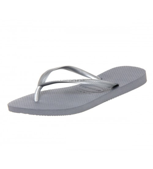 Havaianas Slim Grey Womens Summer Beach Flip Flops