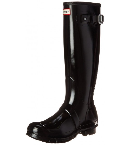 Hunter Orignal Tall Gloss Black Womens Wellington Boots