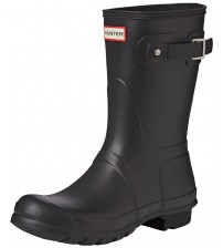 Hunter Orignal Short Hunter Black Womens Wellington Boots