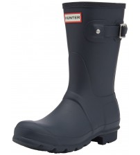 Hunter Orignal Short Hunter Navy Womens Wellington Boots