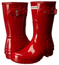 Hunter Orignal Short Hunter Red Gloss Womens Wellington Boots