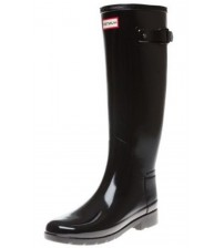 Hunter Orignal Refined Black Gloss Womens Wellington Boots