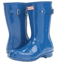 Hunter Orignal Short Blue Gloss Womens Wellington Boots