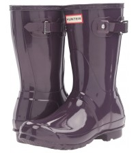 Hunter Orignal Short Purple Gloss Womens Wellington Boots