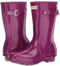Hunter Orignal Short Violet Gloss Womens Wellington Boots