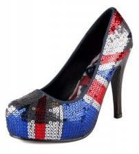 Iron Fist Jacked Up Union Jack Women Hi Heels