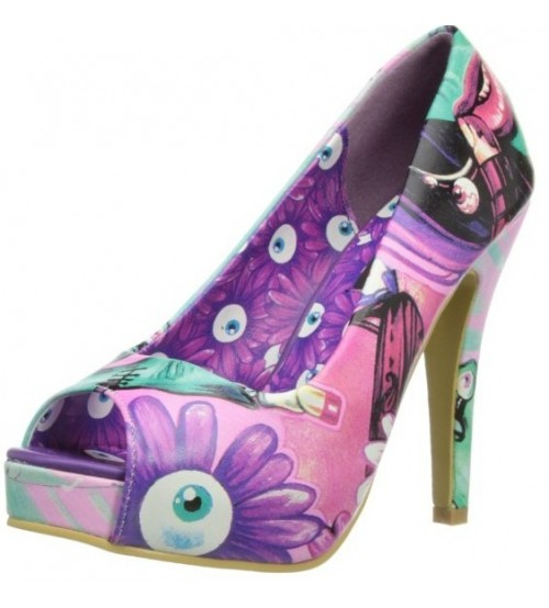 Iron Fist Make Up My Mind Purple Multi Open Toe Womens Hi Heels Shoes