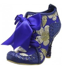 Irregular Choice Abigail's Third Party Blue Gold Women Heels Shoes