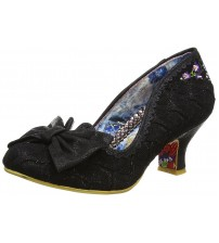 Irregular Choice Always Smile Black Womens Mid Heels