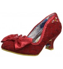 Irregular Choice Always Smile Red Womens Mid Heels