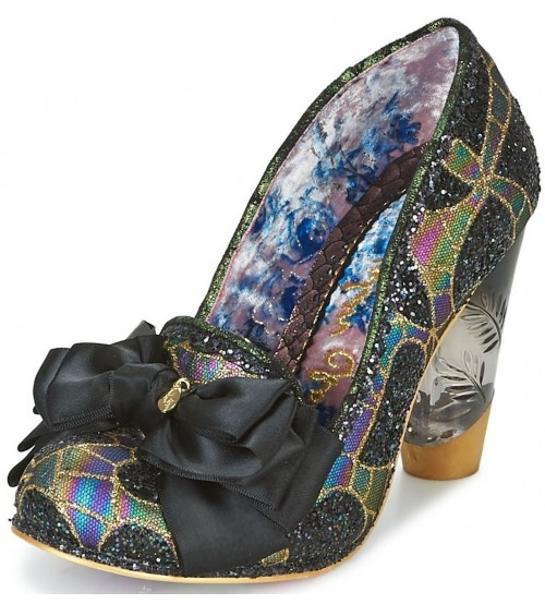 Irregular Choice Cola Cubes Black Multi Womens Heels Shoes