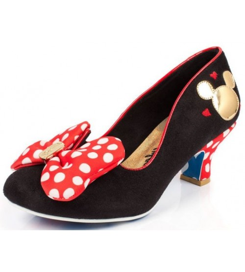 Irregular Choice Disney Classic Minnie Black Red Womens Heels Shoes