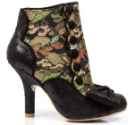 Irregular Choice Golden Years Black Multi Womens Ankle Boots
