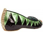 Irregular Choice X Disney The Muppets Kermit The Frog Green Black Flats