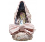 Irregular Choice Mal E Bow Pink White Womens Heels Court Shoes