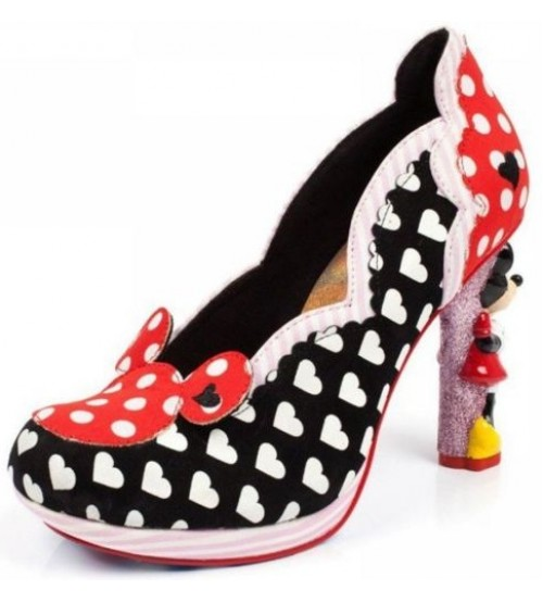 Irregular Choice Disney Minnie Mouse Black Red Womens Heels