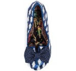 Irregular Choice Nick of Time Blue White Sequin Womens Heels